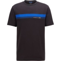 HUGO BOSS - Crew Neck Cotton T Shirt With Collection Themed Print - Black found on Bargain Bro India from Hugo Boss for $118.00