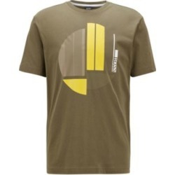 HUGO BOSS - Crew Neck T Shirt In Pure Cotton With Graphic Artwork - Green found on Bargain Bro India from Hugo Boss for $68.00