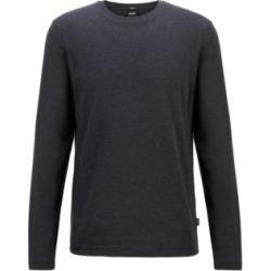 HUGO BOSS - Slim Fit T Shirt In Double Knit Mercerized Cotton - Black found on Bargain Bro India from Hugo Boss for $98.00