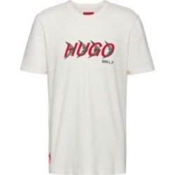 HUGO BOSS - Unisex T Shirt In Cotton With Forest Inspired Logo Motif - White found on Bargain Bro India from Hugo Boss for $78.00