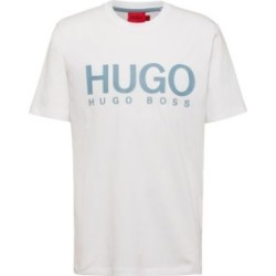 HUGO BOSS - Crew Neck T Shirt In Pure Cotton With Logo Print - White found on Bargain Bro India from Hugo Boss for $48.00