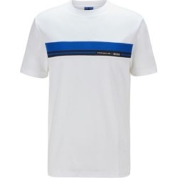 HUGO BOSS - Crew Neck Cotton T Shirt With Collection Themed Print - White found on Bargain Bro India from Hugo Boss for $118.00