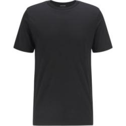 HUGO BOSS - Crew Neck T Shirt In Traceable Italian Virgin Wool - Black found on Bargain Bro India from Hugo Boss for $178.00
