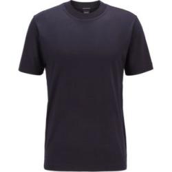 HUGO BOSS - Crew Neck T Shirt In Traceable Italian Virgin Wool - Dark Blue found on Bargain Bro India from Hugo Boss for $178.00