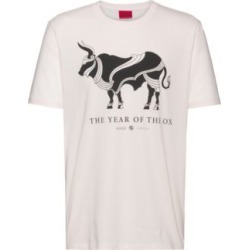 HUGO BOSS - Cotton T Shirt With Year Of The Ox Artwork - White found on Bargain Bro India from Hugo Boss for $68.00