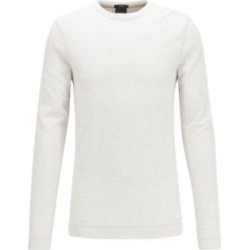 HUGO BOSS - Slim Fit T Shirt With Long Sleeves In Waffle Cotton - White found on Bargain Bro India from Hugo Boss for $88.00