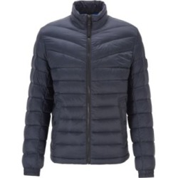 HUGO BOSS - Lightweight Slim Fit Down Jacket With Water Repellent Finish - Dark Blue