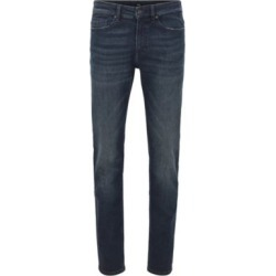 HUGO BOSS - Slim Fit Jeans In Lightweight Super Stretch Denim - Dark Blue