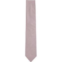 HUGO BOSS - Italian Made Tie In Micro Patterned Silk Jacquard - light pink