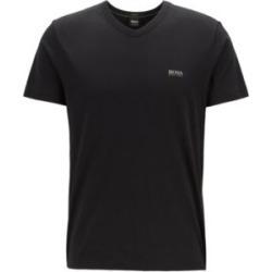 HUGO BOSS - Regular Fit V Neck T Shirt In Soft Cotton - Black found on Bargain Bro India from Hugo Boss for $58.00
