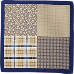 Jos. A. Bank Dotted Four-Way Pattern Pocket Square
