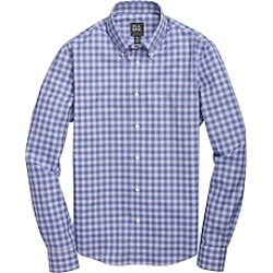 Traveler Collection Slim Fit Button-Down Collar Check Men's Sportshirt CLEARANCE