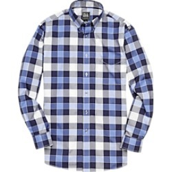Traveler Collection Traditional Fit Button-Down Collar Plaid Men's Sportshirt CLEARANCE