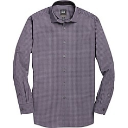 Travel Tech Tailored Fit Spread Collar Check Men's Sportshirt CLEARANCE
