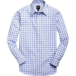 Traveler Collection Tailored Fit Spread Collar Check Men's Sportshirt CLEARANCE