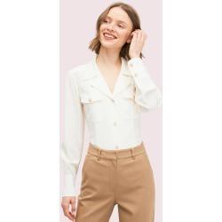 Silk Pocket Shirt - Cream - S (Uk 8-10) found on Bargain Bro UK from katespade.co.uk
