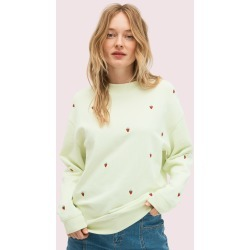 Embroidered Berry Sweatshirt - Lime Cream - S (Uk 8-10) found on Bargain Bro UK from katespade.co.uk