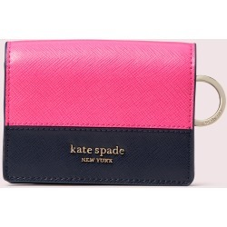 Spencer Mini Keyring Wallet - Pink - One Size found on Bargain Bro UK from katespade.co.uk