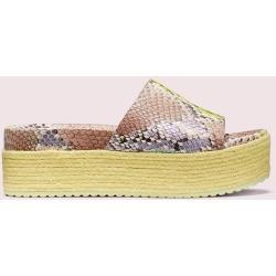 Zia Platform Slide Sandals - Yellow - 5.5 found on Bargain Bro UK from katespade.co.uk
