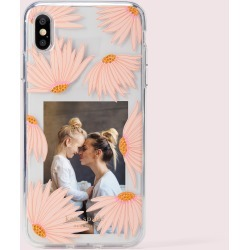 Jeweled Falling Flower Photo Frame Iphone Xs Max Case - Multi - One Size