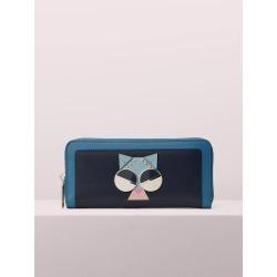 Spademals Smitten Kitten Slim Continental Wallet - Blue - One Size found on Bargain Bro UK from katespade.co.uk