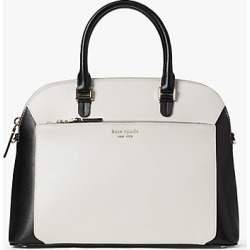 Kate Spade Louise Medium Dome Satchel, Parchment Multi