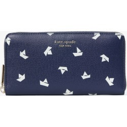 Spencer Paper Boats Zip-Around Continental Wallet - Squid Ink Multi - One Size found on Bargain Bro UK from katespade.co.uk