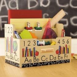 ABC-123 Wooden Desk Organizer