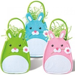 Easter Felt Bunny Treat Bags found on Bargain Bro India from Lillian Vernon for $10.99