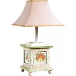 Crackled Rose Table Lamp
