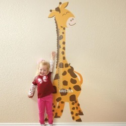 Giraffe Removable Growth Chart