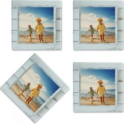 Rustic Blue Shiplap Frame Photo Coasters found on Bargain Bro India from Lillian Vernon for $21.99