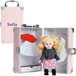 Doll with 8 Outfits and Personalized Pink Trunk found on Bargain Bro India from Lillian Vernon for $59.99