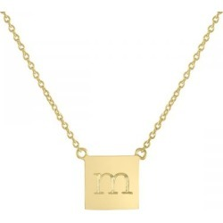 Personalized Chloe Square Gold Vermeil Necklace found on Bargain Bro India from Lillian Vernon for $59.99