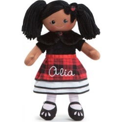 Personalized African American Rag Doll in Plaid Dress found on Bargain Bro India from Lillian Vernon for $39.99