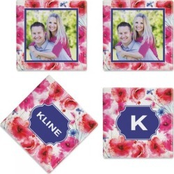 Watercolor Floral Photo Coasters found on Bargain Bro India from Lillian Vernon for $21.99