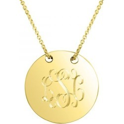 Personalized Sycamore Gold Vermeil Necklace found on Bargain Bro India from Lillian Vernon for $99.99