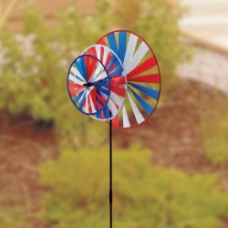 Patriotic Triple Windmill Spinner