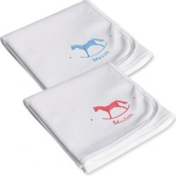 Infant Receiving Personalized Rocking Horse Blanket found on Bargain Bro India from Lillian Vernon for $14.99