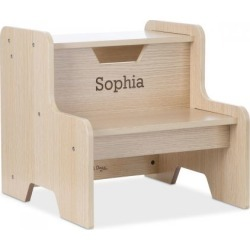 Personalized Natural Step Stool by Melissa & Doug® found on Bargain Bro from Lillian Vernon for USD $53.19
