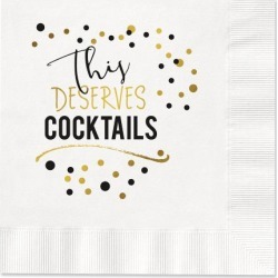 Deserve Cocktails Cocktail Napkins found on Bargain Bro India from Lillian Vernon for $7.99