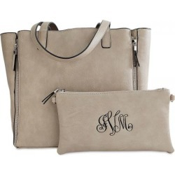 Bone Carry-All Nora Tote Bag with Matching Personalized Crossbody Purse found on Bargain Bro India from Lillian Vernon for $69.99