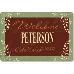 Established in. Personalized Doormat