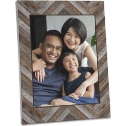 Wood Chevron Photo Plaque found on Bargain Bro India from Lillian Vernon for $24.99