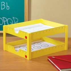1 Teacher 2-Tier Paper Tray found on Bargain Bro India from Lillian Vernon for $34.99