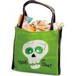 Green Light-Up Treat Bag