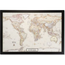 Personalized Magnetic World Map