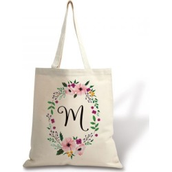 Personalized Initial in Wreath Canvas Tote found on Bargain Bro India from Lillian Vernon for $17.99