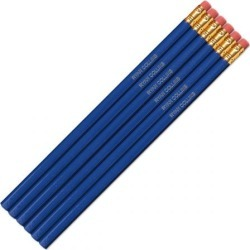 Royal Blue Personalized Pencils
