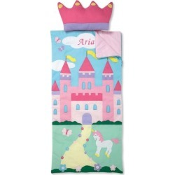 Personalized Castle Sleeping Bag with Detachable Pillow found on Bargain Bro India from Lillian Vernon for $89.99